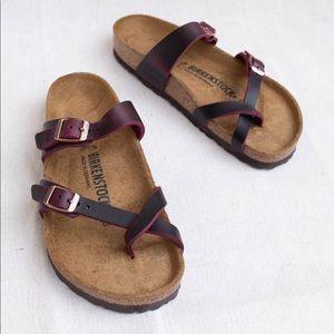 Birkenstock Mayari Zinfandel Leather Sandals 39